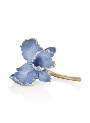 The Mia Dekor Çiçek Figürü Mavi Mavi